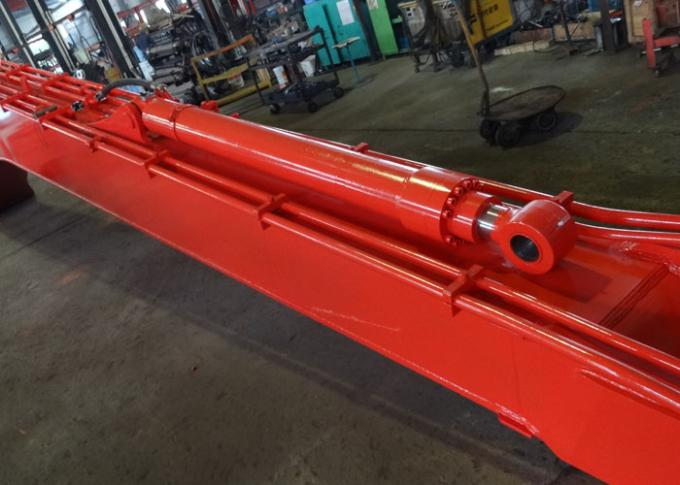 18 M Doosan DX300 Excavator Long Reach Boom With 0.5 Cum Bucket / Auxiliary Pipe