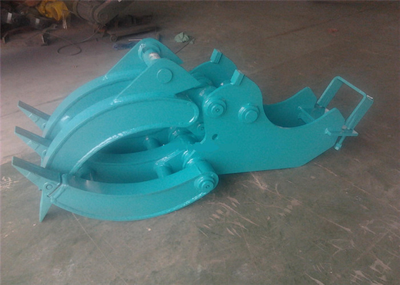 Chiny Mechanical Wood Grapple Log Grapples for Excavators Kobelco SK80 dostawca