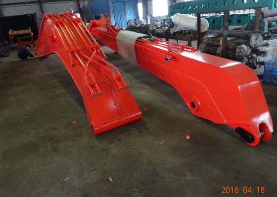 Chiny 18 M Doosan DX300 Excavator Long Reach Boom With 0.5 Cum Bucket / Auxiliary Pipe dostawca