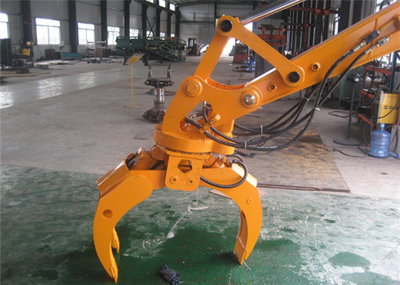 Chiny Komatsu PC120 12ton Excavator Grapple Attachments Log Loader Grapple dystrybutor